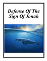 Defense Of The Sign Of Jonah cover
